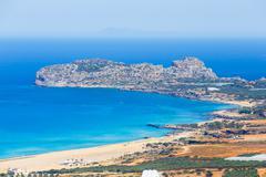 View of the beautiful Falasarna beach on Crete, Greece Stock Photos