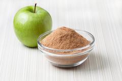 crushed apple fiber, green apple - stock photo