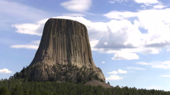 Devils Tower Pull Stock Footage