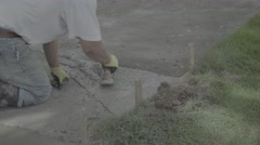 Sidewalk repair: Corner patch leveling (S-log3) Stock Footage