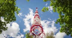Antenna tower timelapse Stock Footage