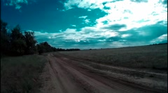 Panorama of summer nature Stock Footage
