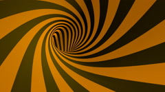 Orange hypnotic striped spiral tunnel loop 4K video Stock Footage