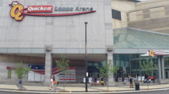 Quicken Loans Arena during the Republican National Convention   Stock Footage