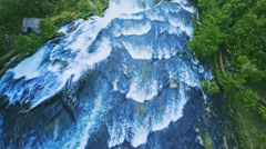Waterfall aerial view Stock Footage