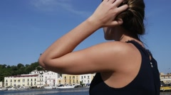 Woman in Ischia Island, Italy Stock Footage