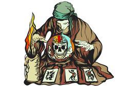 fortune teller - stock illustration