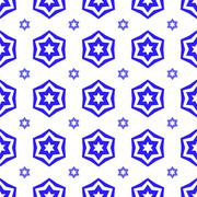 Blue David Star Seamless Background Piirros
