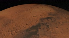 Mars against the background star map. Equatorial view Stock Footage