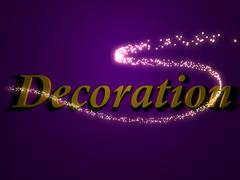 Decoration - 3d inscription with luminous line with spark on contrasting back Piirros