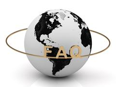 FAQ on a gold ring around the earth. Image from the same footage Piirros