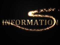 INFORMATION- 3d inscription with luminous line with spark on contrasting back Piirros