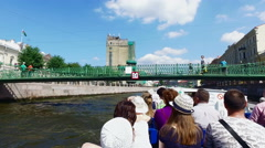 Tourists and travelers make the river Stock Footage