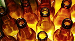 Empty bottles, the top view Stock Footage