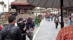 Rickshaw ride in Kathmandu, Nepal Stock Footage