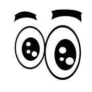 Cartoon eyes. - stock illustration
