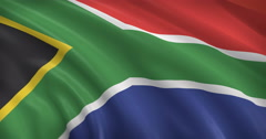 South African Flag 3D Stock Footage