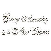 Every Monday is a New Chance inspirational quotes lettering for postcards Stock Illustration
