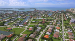Aerial footage Marco Island luxury real estate Stock Footage