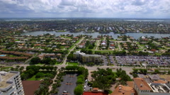 Aerial Marco Island residential neighborhood Stock Footage
