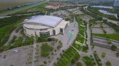 Aerial stock video BB&T Center Sunrise Florida Stock Footage