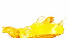 Fresh Orange Juice flow. Super Slow motion. Stock Footage