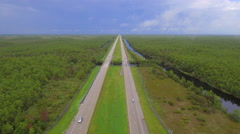 Light traffic on I75 aerial coverage - stock footage