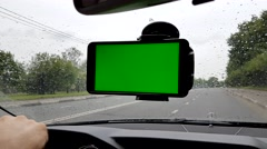 Smartphone inside the car Stock Footage