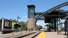 View of the Orchard light rail station. Stock Footage