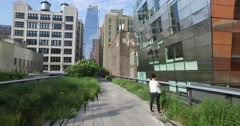 Personal Perspective Walking on The High Line in Manhattan Stock Footage