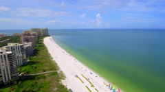 Marco Island beautiful beaches aerial footage Stock Footage