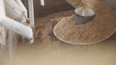 Mixing cattle feed Stock Footage