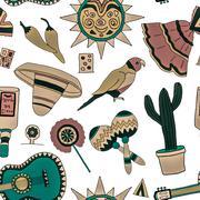 Fiesta elements - stock illustration
