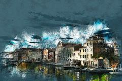 View in Venice Stock Illustration
