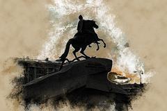 The Bronze Horseman Stock Illustration