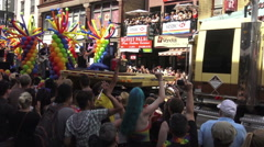 Colorful Float at Toronto's 36th Annual Pride Parade 2016 Stock Footage