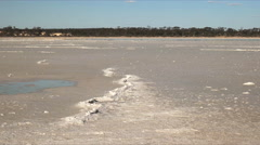 Panning shot of a west australian salt pan Stock Footage