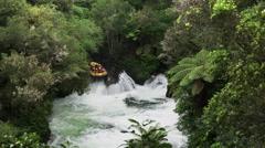 Rafting new zealand's kaituna falls Stock Footage