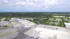 Aerial video of Sawgrass Mall Florida Stock Footage