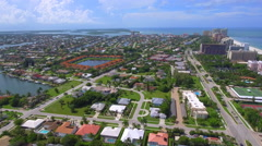 Stock aerial footage Marco Island Florida Stock Footage