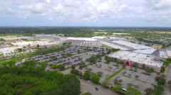 Sawgrass Mills Outlet Mall aerial video Stock Footage