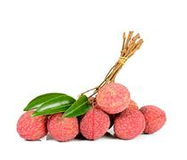 Lychee or Litchi isolated on the white background Stock Photos