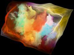 Lights of Mind Particle Stock Illustration