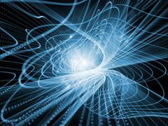 Realms of Wave Particle Stock Illustration