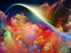 Magnificent Space Nebula Stock Illustration