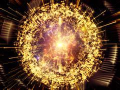 Lights of Central Reaction - stock illustration