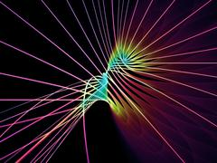 Virtualization of Grid Lines - stock illustration