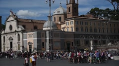 ROME - ITALY - July 2016 - Piazza del Popolo - pan Stock Footage