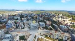 Arab Muslim village - Aerial footage Stock Footage