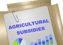 Agricultural Subsidies concept Stock Illustration